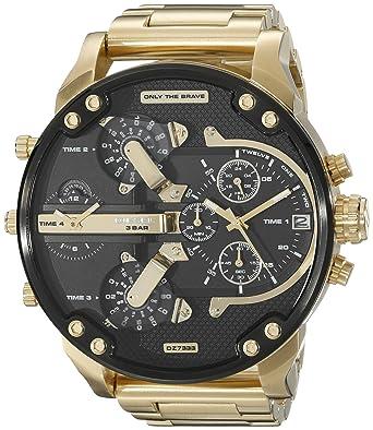 amazon com diesel men s dz7333 mr daddy 2 0 gold watch diesel diesel men s dz7333 mr daddy 2 0 gold watch