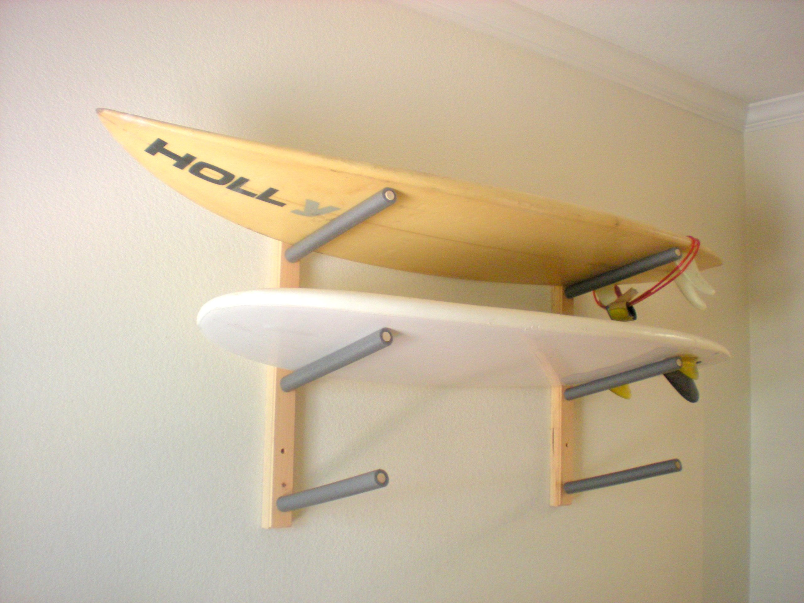 Surfboard, Wakeboard, Kiteboard Wall Rack Mount - Holds 3 Boards