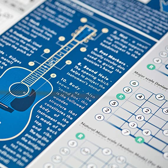 The Really Useful Guitar Poster - Aprende Guitarra, Teoría Musical ...