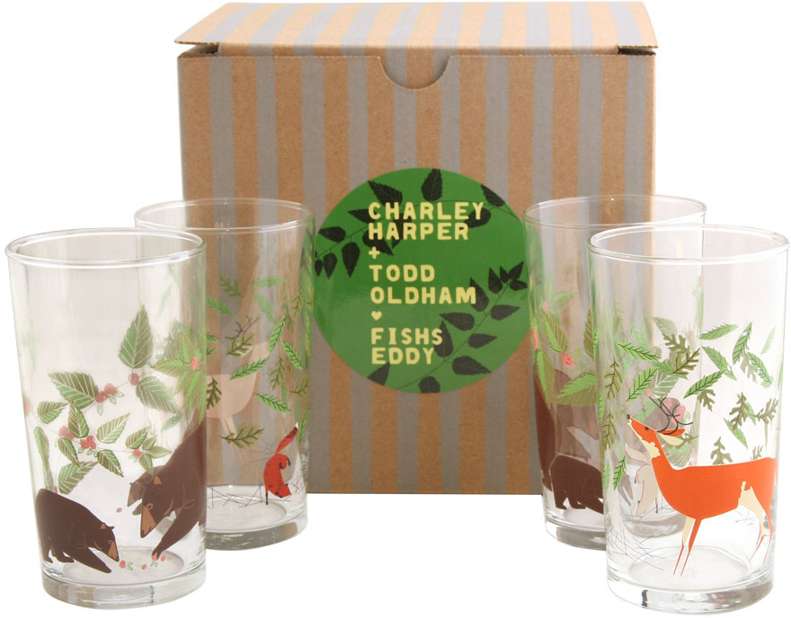 Oldham + Harper Great Outdoors Glasses Set of 4 - Glassware