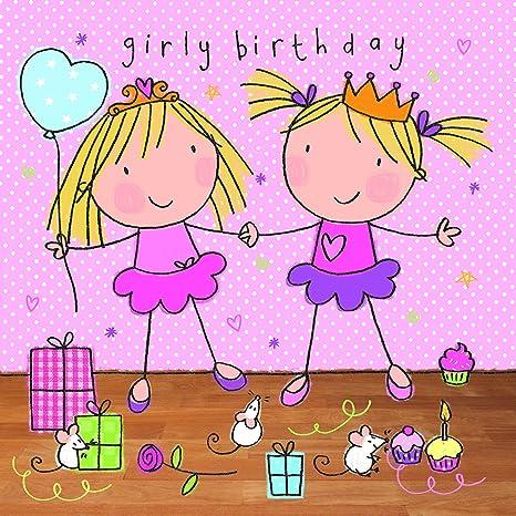 Twizler - Tarjeta de cumpleaños para niña - Fiesta con ...