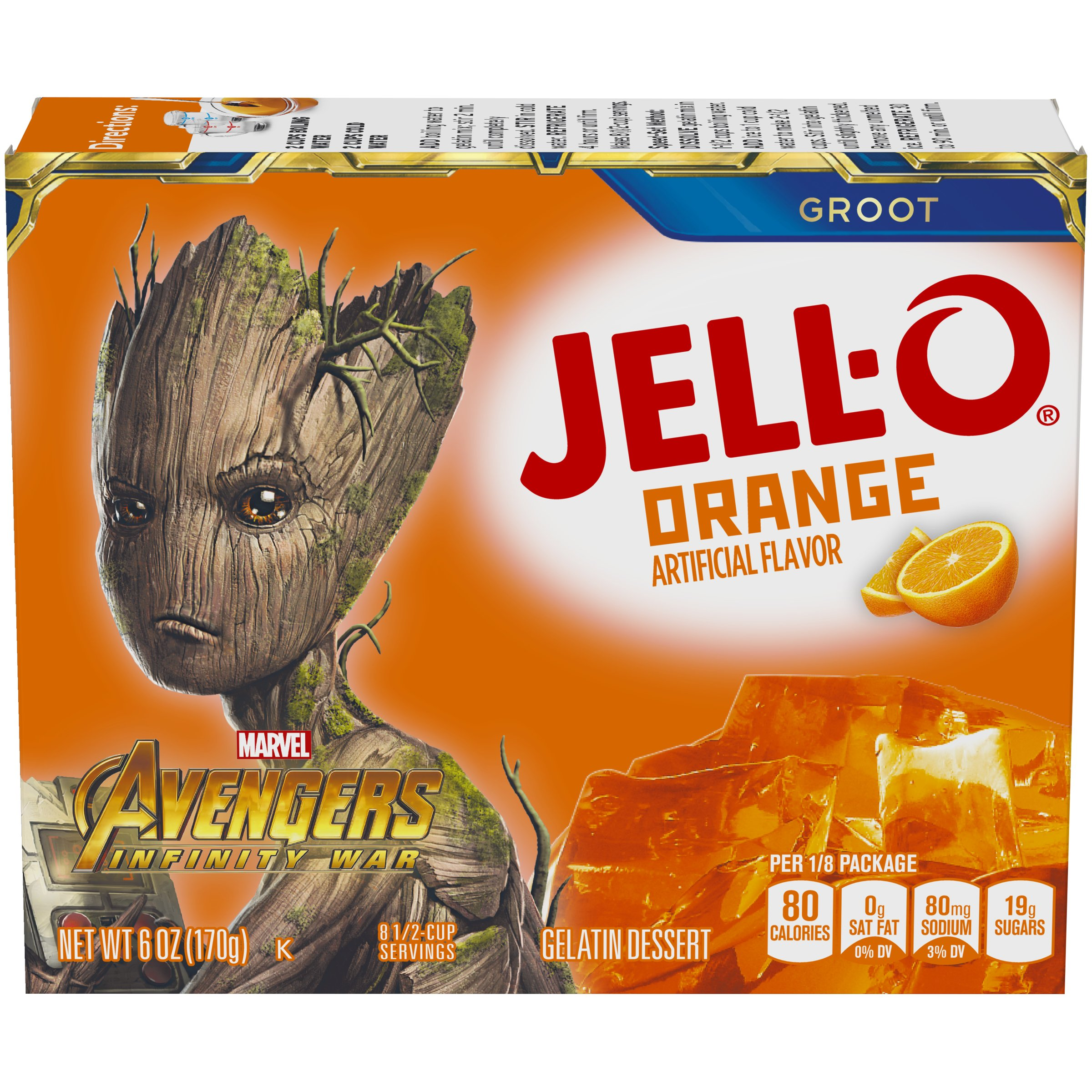 Jell-O Orange Gelatin Dessert Mix, 6 oz Box by Jell-O (Image #1)