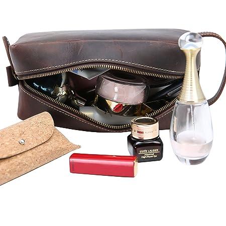 Amazon.com: piel bolsa de aseo iswee organizador de viaje ...