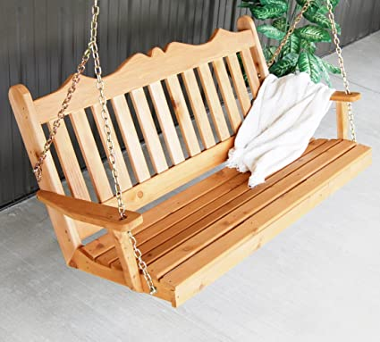 Amazon Com Aspen Tree Interiors Cedar Porch Swing Amish Outdoor