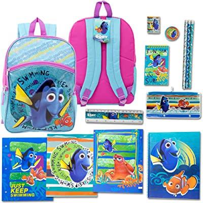 "16"" Backpack Kit with 12 Pieces School Supply Stationary Set."