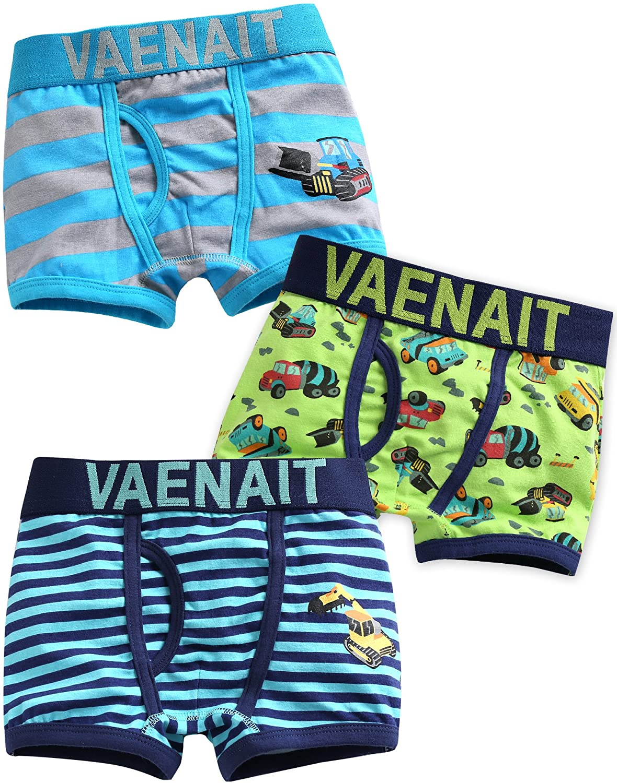 Vaenait Baby 2T-7T Kids Boys 100/% Cotton Super Comfort Boxer Briefs 3-Pack Set