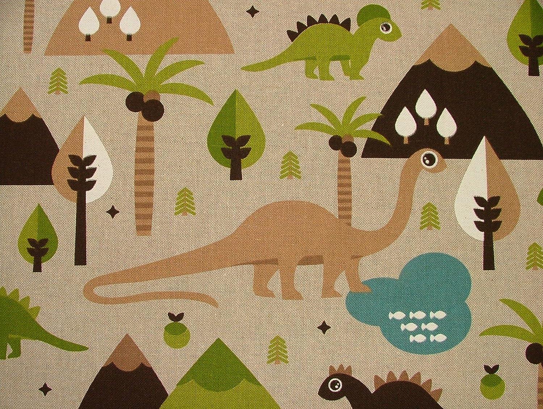 Dinosaurier auf Leinen Optik Stoff – Vorhang Polster Quilting Crafts ...