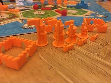Build3D - Piezas de Repuesto para colonos de Ciudades catanas y Caballeros de expansión, Color Naranja: Amazon.es: Juguetes y juegos