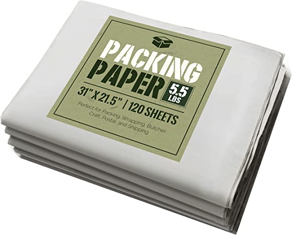 24 x 30 Newsprint Wrapping Paper Sheets 475 Sheets - AB-240-10-03 30 lb.