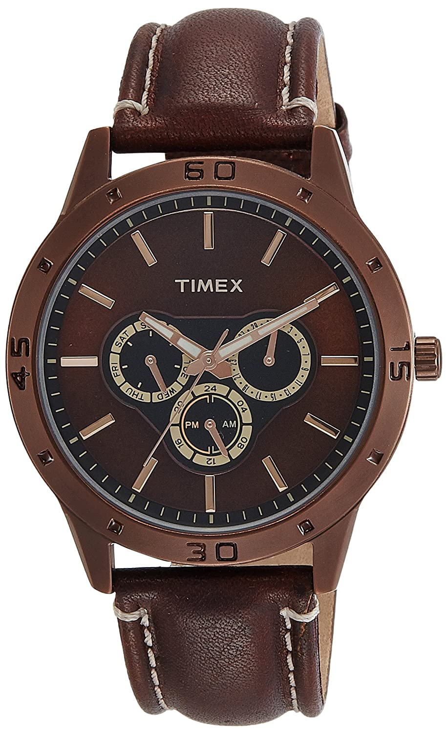 Timex Analog Brown Dial Best Mens Watches Under 5000 in India to buy in 2019 - Reviews & Buyers Guide