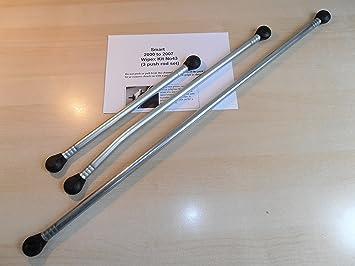 Motor para limpiaparabrisas Kit de varillas de empuje para acoplamiento. WIPEX Kit No43: Amazon.es: Coche y moto
