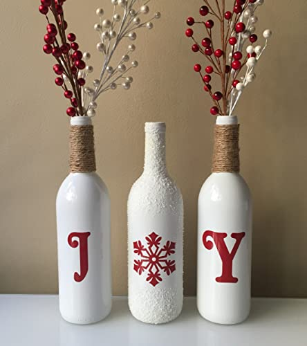 joy wine bottles christmas joy wine bottles christmas decorations joy christmas wine - Joy Christmas Decoration