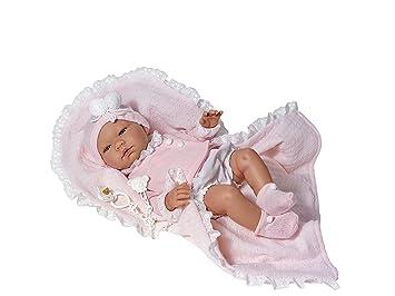 Amazon.es: Muñecas bebe - Maria pelele blanco chaqueta rosa ...