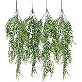 Vinhas artificiais falsas para pendurar Plant Garlands, 4 Pack Hanging Vine