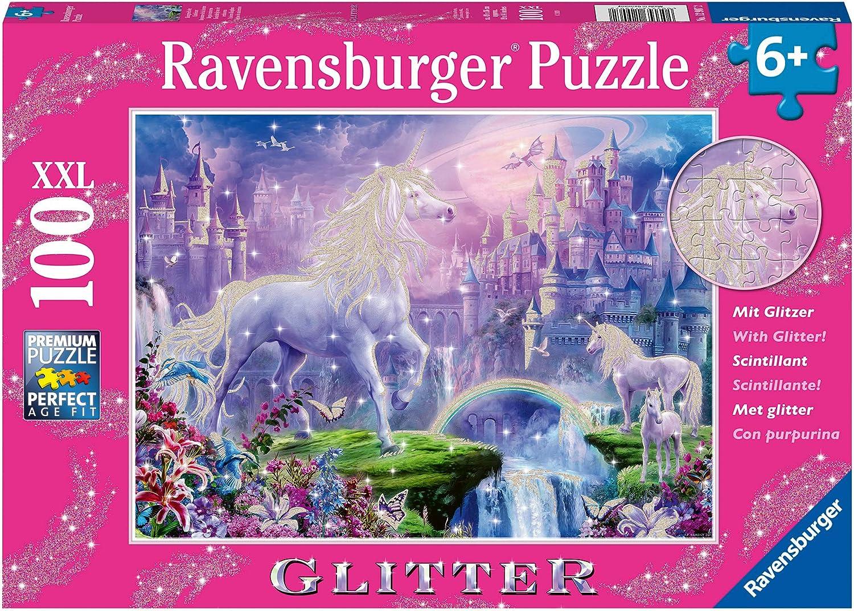 The Castle Unicorns and Unicorn Waterfall Ceaco Unicorn 100 Piece Kids Puzzle Set