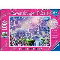 Ravensburger 12907 Unicorn Kingdom Puzzle Glitter Puzzle Game 100-Pieces