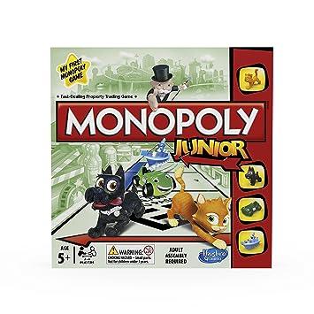 Monopoly Hasbro Gaming Junior Juego De Mesa Version En Ingles