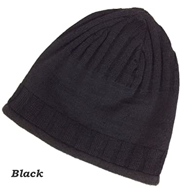 b807d3b6726690 Alpacas of Montana Back Country Lined Alpaca Beanie Hat - Men & Women - 5  Color Options (Black) at Amazon Women's Clothing store: