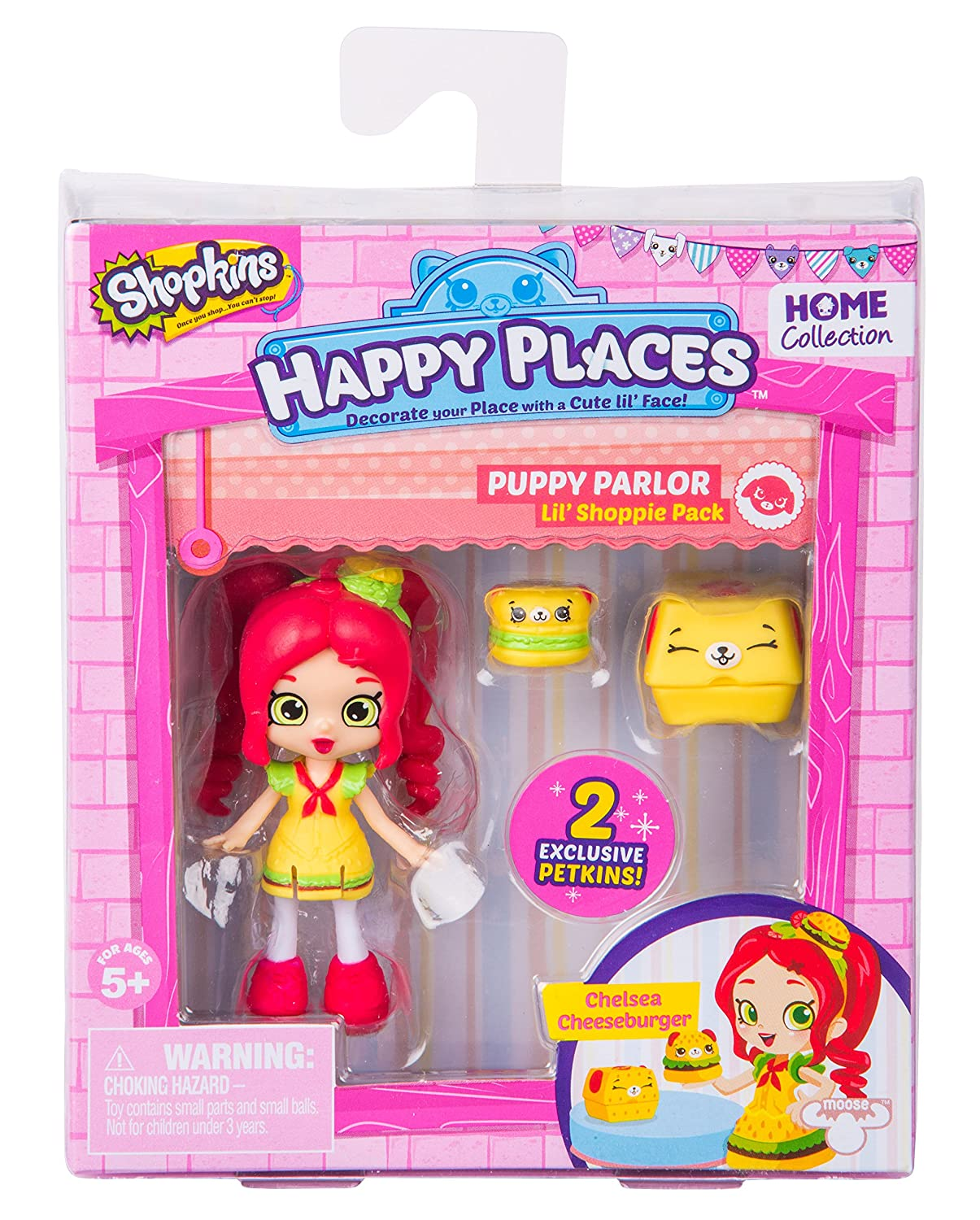 Amazon Happy Places Shopkins Season 2 Doll Single Pack Chelsea Cheeseburger Toys Games