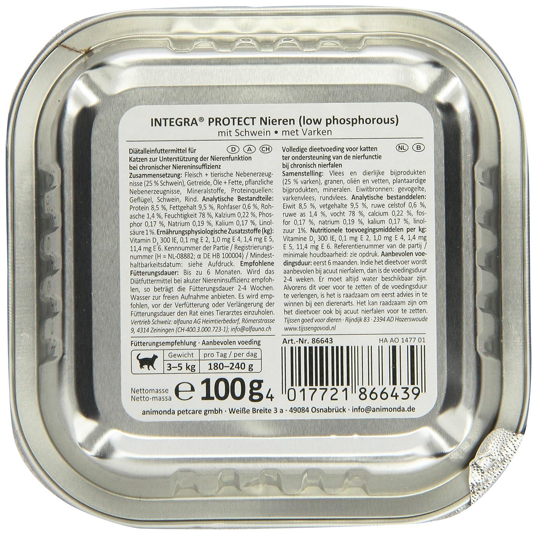 Integra Protect 86643 Niere Schwein 16 x100 g Schale - Katzenfutter ...