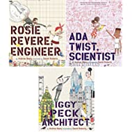 Andrea Beaty Collection 3 Books Set (Ada Twist Scientist, Rosie Revere Engineer, Iggy Peck Architect)