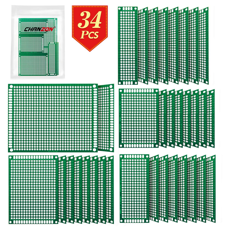 20pcs 2.54mm PCB ProtoBoard Circuit  Board Universal Stripboards 4x6 5x7 2x8 3x7