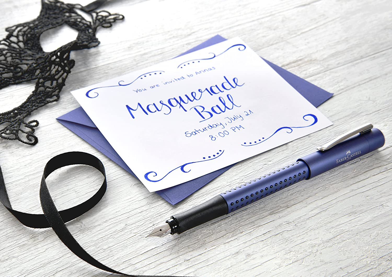 New Extra Fine Point  140907 Blue Faber-Castell Grip 2011 Fountain Pen