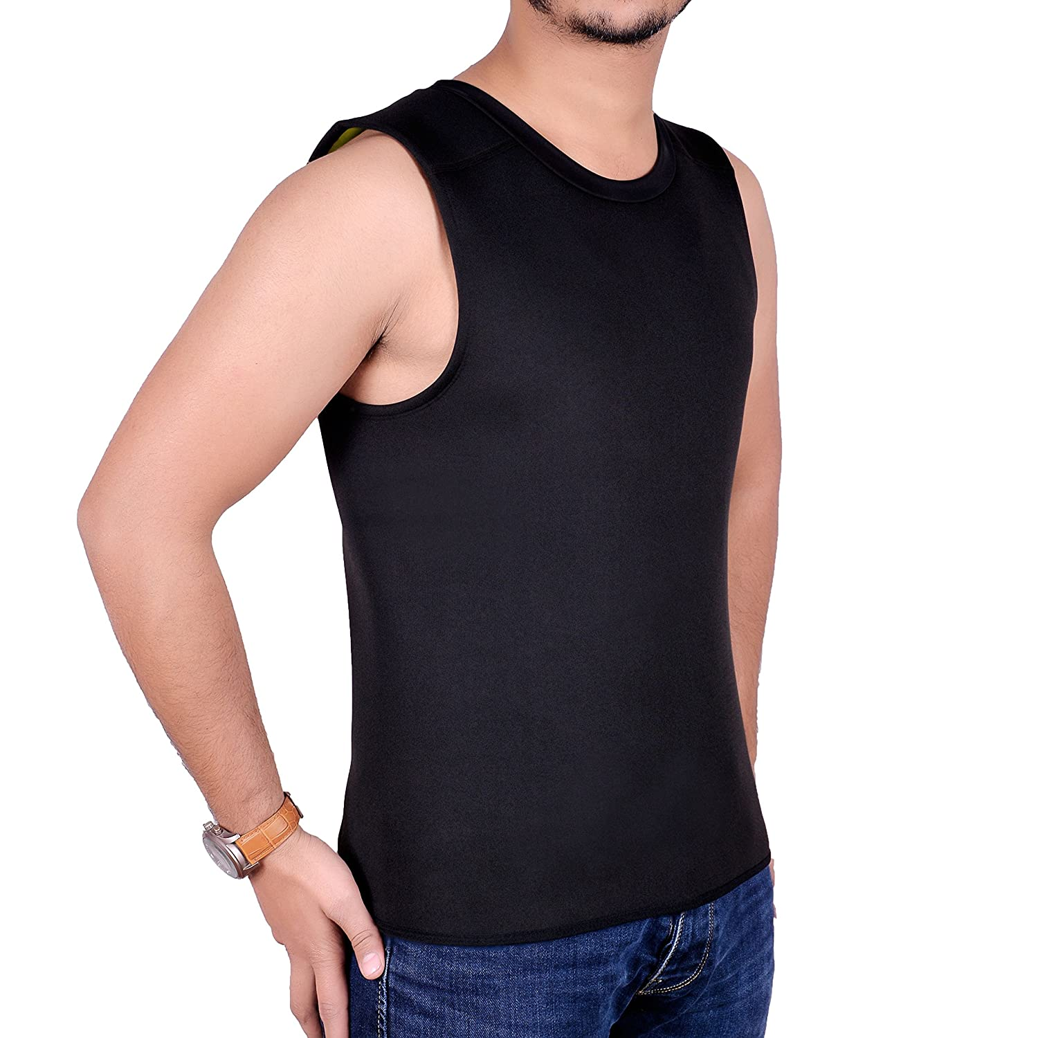 404f5d90ec438 Amazon.com   ARD Men s Body Shaper Sauna Vest Neoprene Tank Top ...