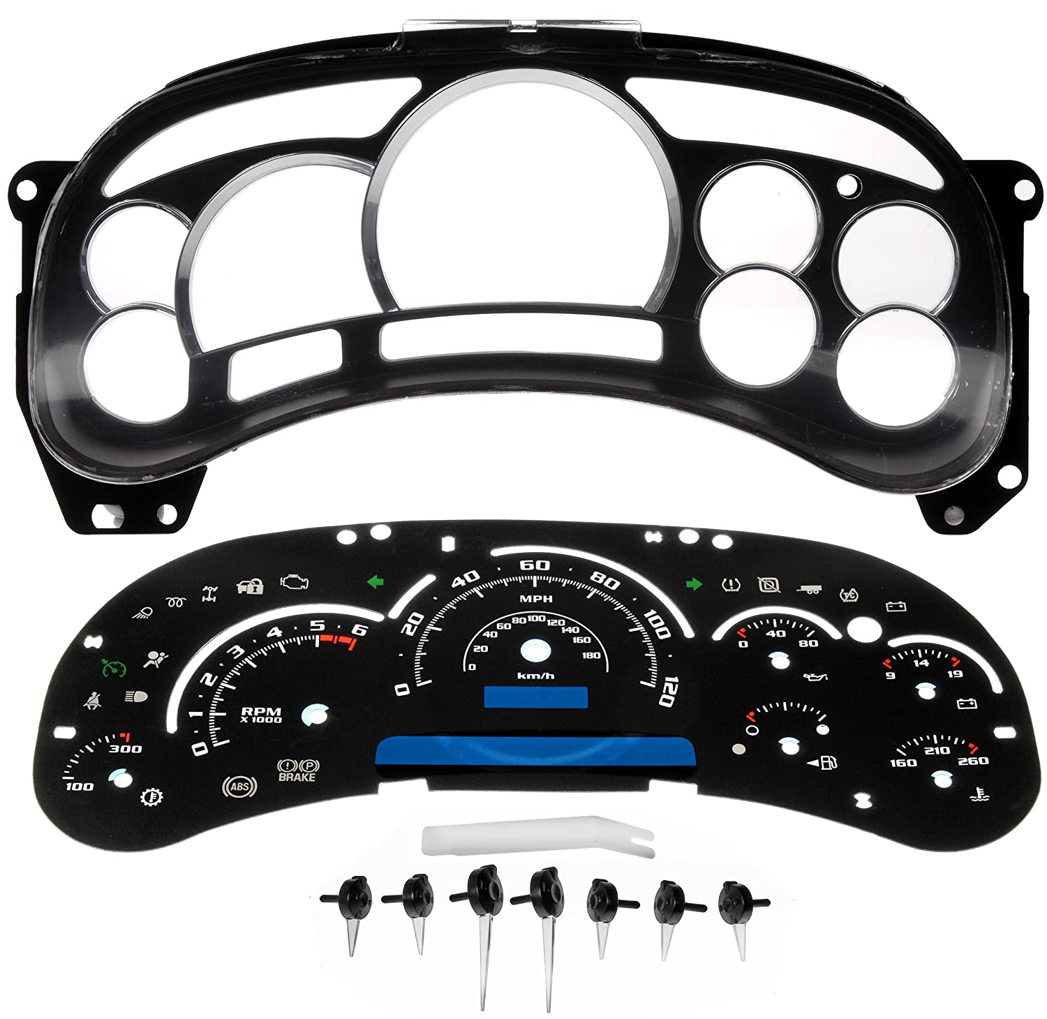 Dorman 10 0104b Instrument Cluster Upgrade Kit Automotive 1954 Chevy Truck Gauge