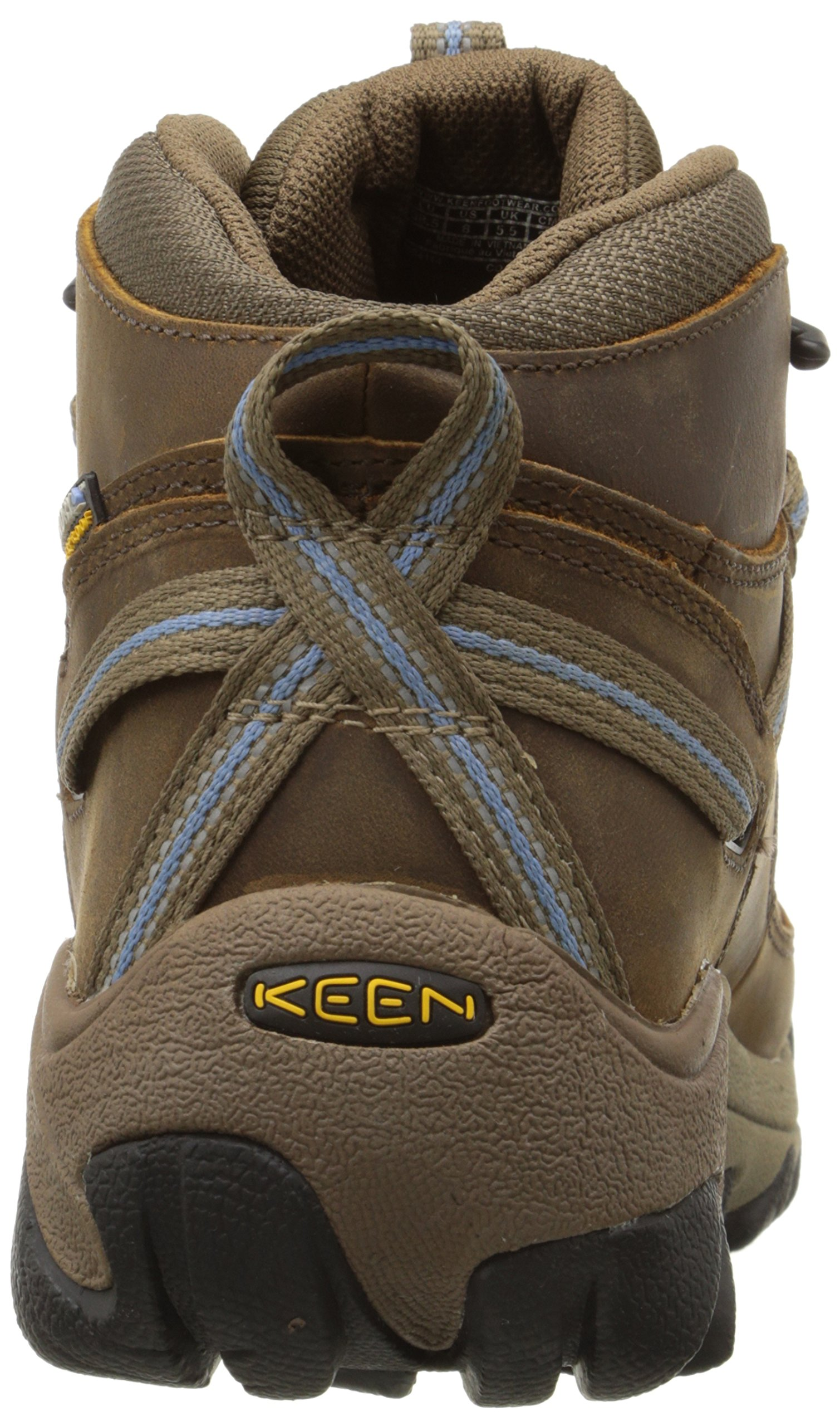 KEEN Women's Targhee II Mid Waterproof Hiking Boot,Slate Black/Flint Stone,8.5 M US by KEEN (Image #2)