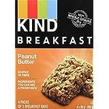 KIND Breakfast Bar, Peanut Butter, Gluten Free, Non GMO, 50 Grams, 4 Count
