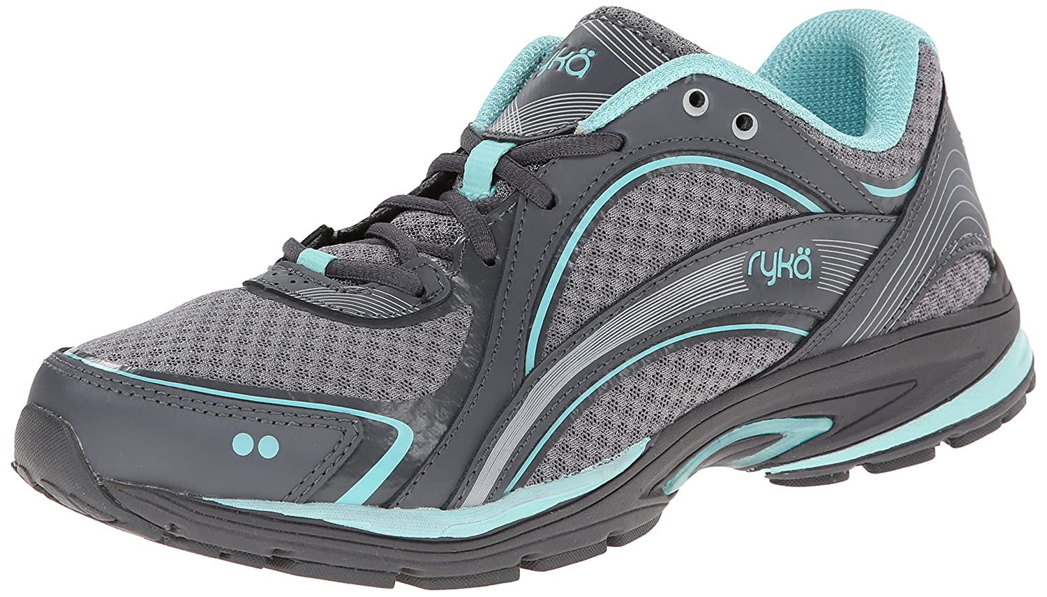 Ryka Women's Sky Walking Shoe B00MF15XVI 9 B(M) US|Frost Grey/Aqua Sky/Iron Grey