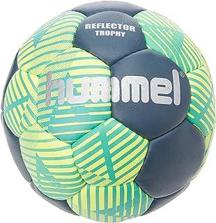 Hummel Hand Ball Taglia 0, 1, 2o 3per gioco & Training–Reflector Trophy HB–Resina Training ball tempo libero & Sport–Ball Blu & Giallo con Air della Trappola della valvola \ n, Unisex, REFLE