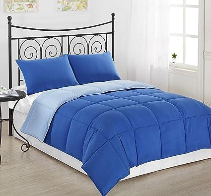 Amazon Com Cozy Beddings Comforter Set Reversible Down Alternative