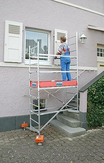 Krause ClimTec Alu Arbeitsger/üst Arbeitsh/öhe 6,00 m 125 mm Rollen