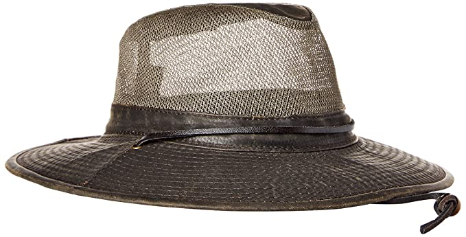 5fe6ded95c7 Dorfman Pacific Co. Men s Weathered Cotton Big Brim with Mesh at ...