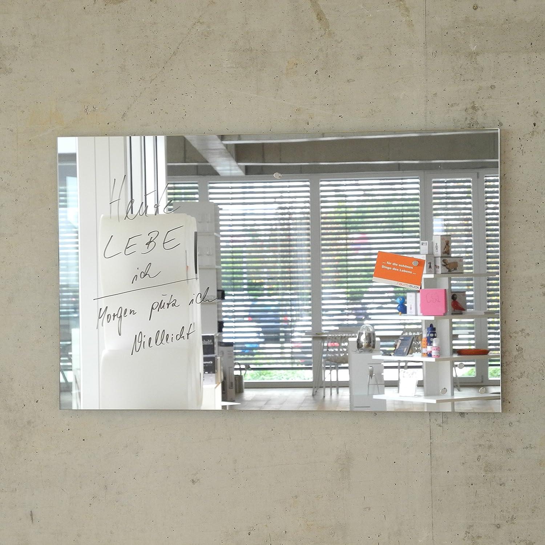 gr/ün, 60 x 40 cm 5 Magnete Glas Magnettafel MAX inkl Magnetspiegel//Glasmagnettafel//Magnetboard//Magnetwand