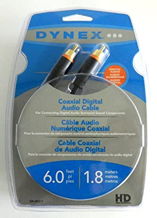 Dynex 1.8 M 6 pies Cable de audio coaxial digital