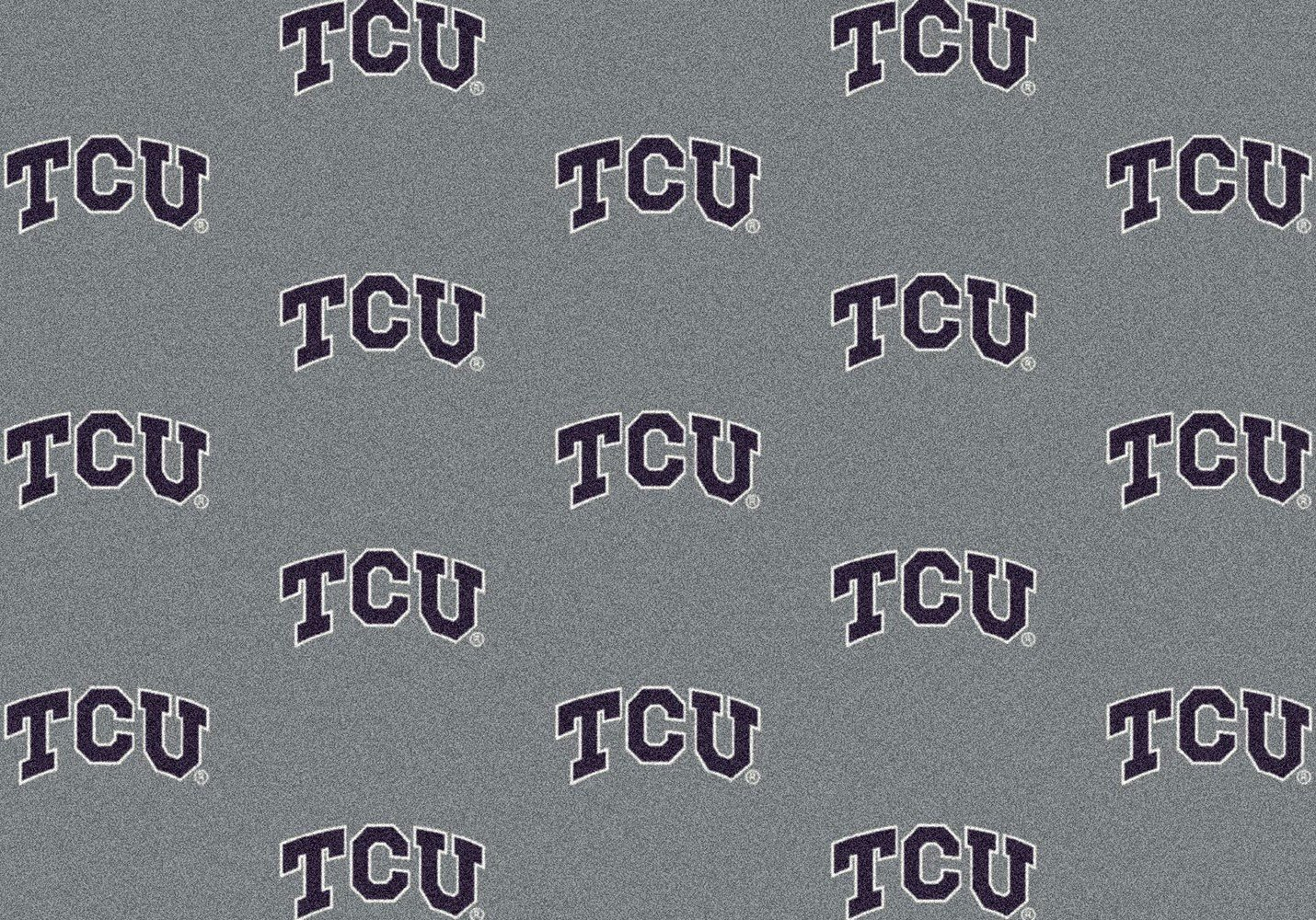 Texas Christian Horned Frogs NCAA College Repeating Team Area Rug 10'9''x13'2'' by American Floor Mats