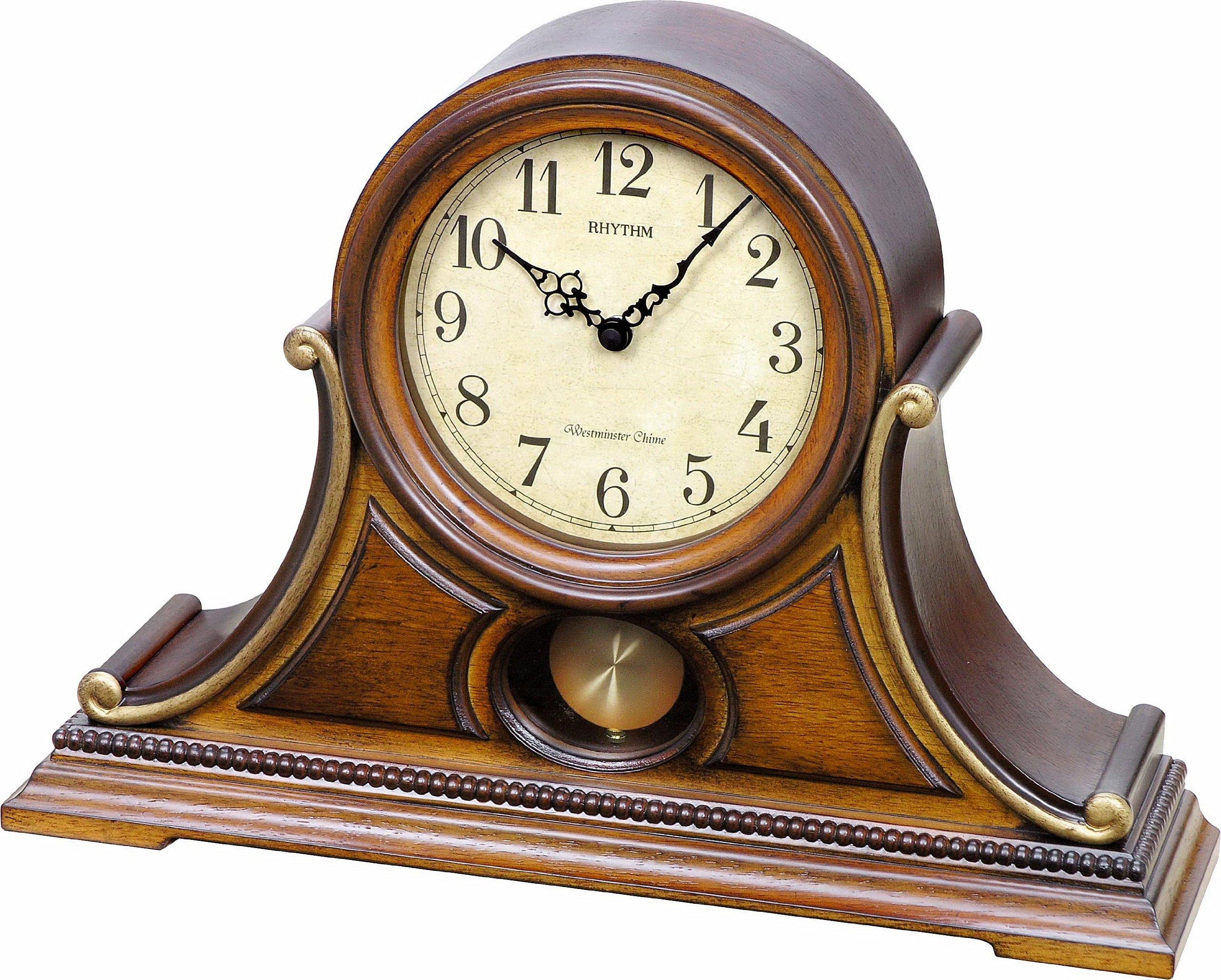 Rhythm Clocks ''Tuscany II'' Wooden Musical Mantel Clock by Rhythm Clocks