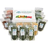 Harmony House Dehydrated Vegetable Sampler – 15 Count Variety Pack, Resealable Zip Pouches, For Cooking, Camping, Emergency S