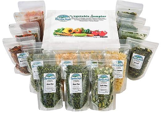 Mostrario de verduras secas Harmony House Foods (15 piezas ...