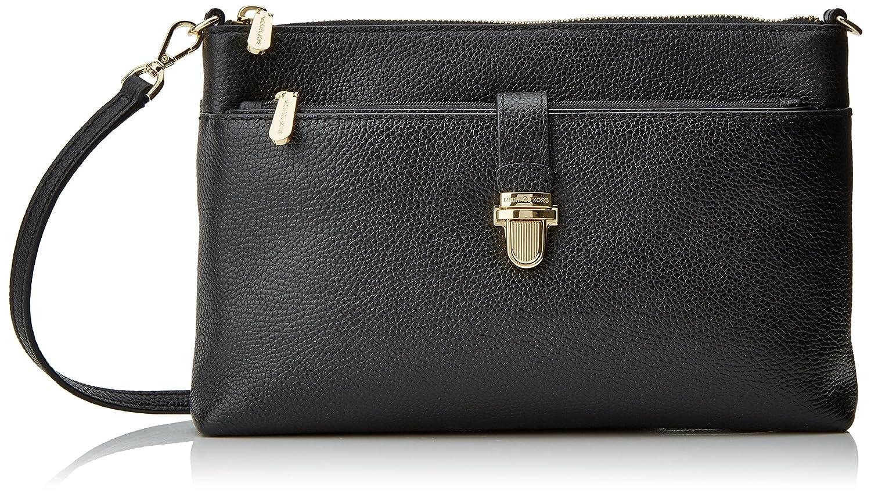 d4a9353a3a01 MICHAEL Michael Kors KORS STUDIO Large Snap Pocket Crossbody Bag Black   Handbags  Amazon.com