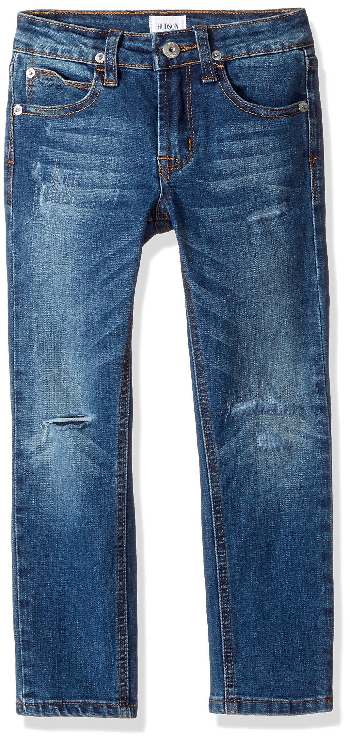 HUDSON Boys' Big Jagger Slim Straight Jean, Cielo, 20 by HUDSON