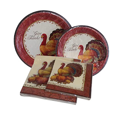Thanksgiving Plates and Napkins - 12ct Dinner Plates 12ct Dessert Plates 20 Count Dinner  sc 1 st  Amazon.com & Amazon.com | Thanksgiving Plates and Napkins - 12ct Dinner Plates ...