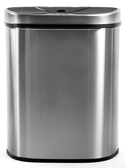 Homra Lujo sistemas de separación de basuras (Cubo de basura con sensor, 70 litros, de acero inoxidable de alta calidad, automática mülltrenner Cubo ...