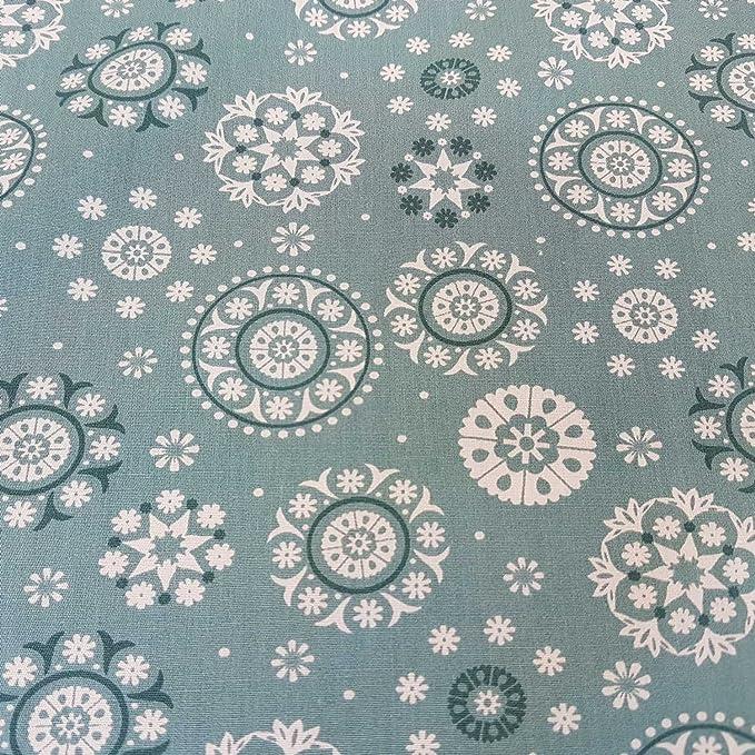 Stoff Meterware Baumwolle Patchwork taupe rot weiß Dreieck Asanoha Sterne Mille