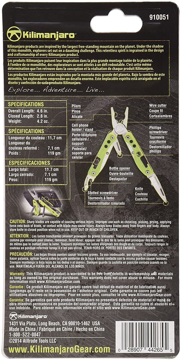 Amazon.com : Kilimanjaro Kickstand Multi-Tool - 910051 : Sports & Outdoors
