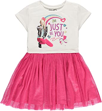 JoJo Siwa Girls Tutu Dress With Tulle Skirt