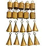 DIYANA IMPEX Vintage Indian Tin Bells Rustic Chime Vintage Jingle Bell Cow Bells Christmas Tree Crafts Decoration